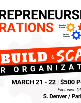 Entrepreneurship Operations March 21-22