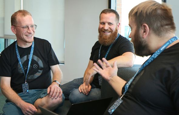 Xero engineers laughing